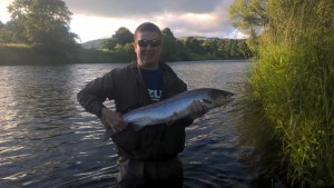 Kevin Corder 10lb salmon Dalswinton 5.7.16