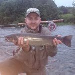 Nith Sea Trout Experience week 6, Boatford Upper Beat, Jimmy from Gareth Clark's Team, caught this 6-7lb Sea Trout