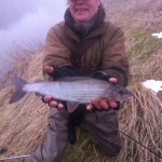 "Father & Son caught 18"" and 16"" grayling on DGAA Water."