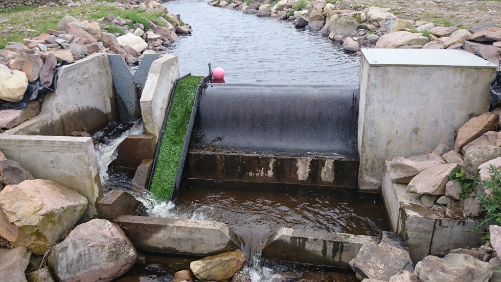 This inlet allows for fish passage downstream and eel passage upstream.