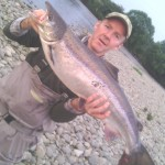 John Dobbin, caught this 18lb sea trout on the Boatford Beat