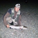 Nith Sea Trout Experience week 3, Rosehill Beat, John Kane caught and released this 8lb sea trout